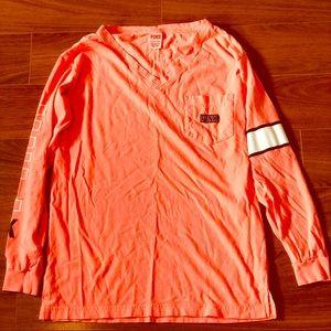 L/S PINK Orange Tee Shirt